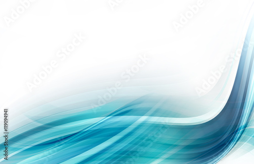 Staande foto Abstract wave Abstract Blue Background