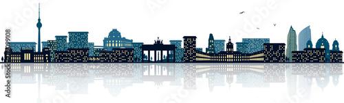 Naklejka Berlin Skyline