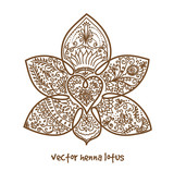 tattoo henna lotus