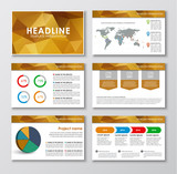 Templates polygonal slides for presentations
