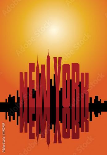 Zdjęcia na płótnie, fototapety, obrazy : New York city poster.