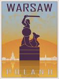 Warsaw Vintage Poster - 119135179