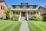 Fototapety Nice curb appeal of American craftsman style house.