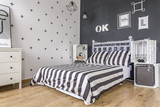 Black and white bedroom idea