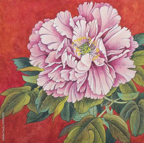 delicate peony flower - 119163916
