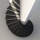 Abstract spiral staircase close-up