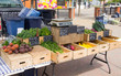 Farmers' Market Display - fresh local veggies for sale