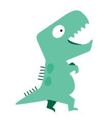 cute dinosaur vector flat design