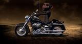 Monkey Riding A Motorcycle 3D Render