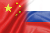 half china and russian flag