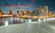 Leinwanddruck Bild - Medienhafen Düsseldorf