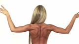 Woman showing her nice back muscles