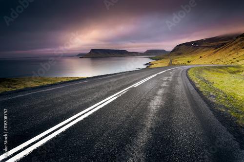 Plexiglas Zwart Iceland Road