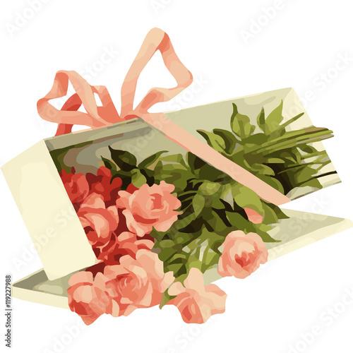 Zdjęcia na płótnie, fototapety, obrazy : Red watercolor roses isolated on white background