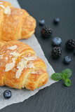 Croissant  with fresh berries