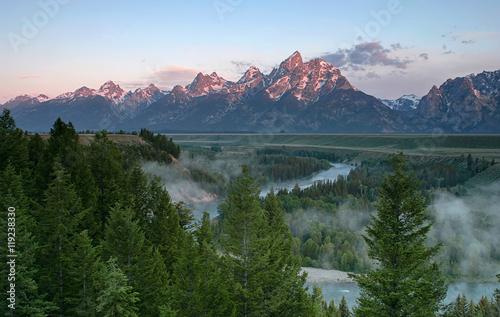 Leinwandbild Motiv Grand Teton Sunrise
