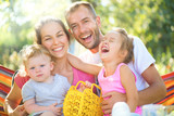 Happy joyful young family with children - 119262518