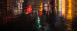 Fototapety NYC streets after rain with reflections on wet asphalt