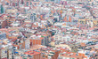 Aerial view of suburb of Barcelona