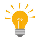 light bulb power energy electricity illumination  icon. Flat and isolated design. Vector illustration