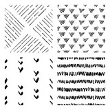 seamless hand drawn ink patterns - 119280193