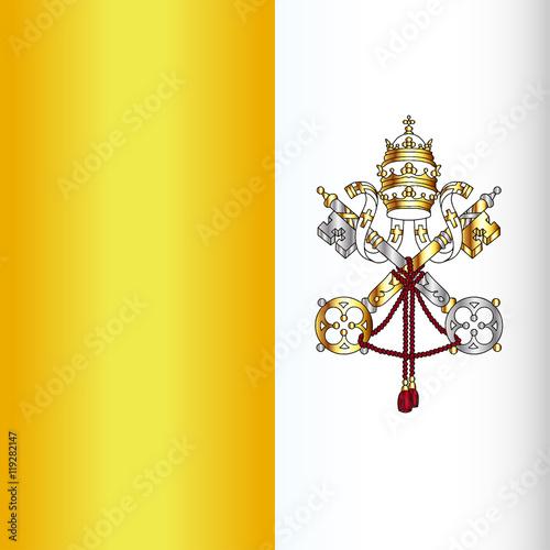 Naklejka Vatican City Flag