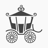 Carriage Icon Of  Illustration For Web And Mobile Wall Sticker