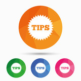 Tips sign icon. Star symbol.