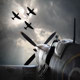 The Fighter planes. Digital artwork on second world war theme. On memory Battle of Britain anniversary.  - 119290789