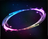 Shining neon lights cosmic abstract frame - 119298992