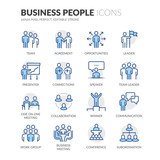 Fototapety Line Business People Icons