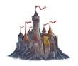 Leinwanddruck Bild ilustracion  de castillo
