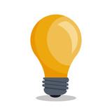 bulb light idea icon - 119306914