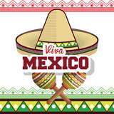 viva mexico sombrero poster icon