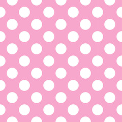 Vector pattern with polka dots