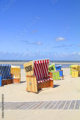 Poster Strandkörbe auf Langeoog