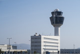 Athens, Greece - August 06 2016: Athens Airport Traffic Control Tower (ATC). Athens International Airport Eleftherios Venizelos is the 30th busiest airport in Europe. - 119321966
