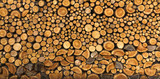 BACKGROUND, WALL OF WOOD STUMP - 119324149