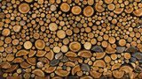 BACKGROUND OF DRY CHOPPED FIRE WOOD LOGS IN A PILE
