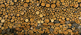 BACKGROUND, WALL OF WOOD STUMP - 119324176
