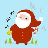 Fat Santa clause cartoon illustration