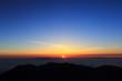 南アルプス北岳での夜明け