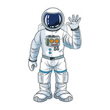 Astronaut man spaceman cosmonaut space cartoon icon. Colorful design. Vector illustration - 119361773