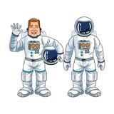 Astronaut man spaceman cosmonaut space cartoon icon. Colorful design. Vector illustration - 119362115