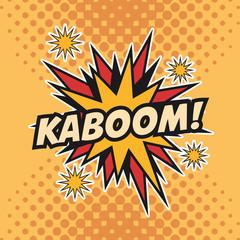 kaboom boom explosion cartoon pop art comic retro communication icon. Colorful pointed design. Vector illustration