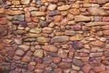 Fondo de Pared de Piedras Rojizas