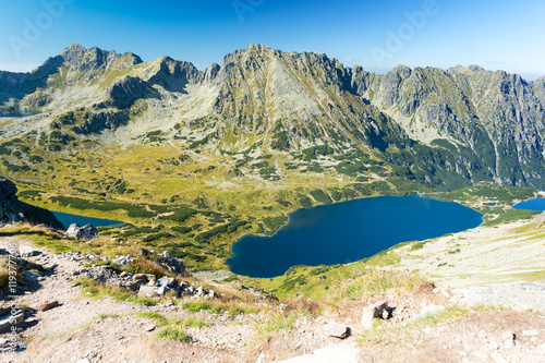 Summer view on five polish lakes valley in Tatra /Tatry mountains, Poland
