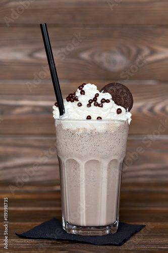 Fotobehang Milkshake milk chocolate cocktail