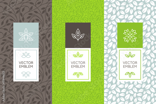 Vector set of packaging design templates - 119446113