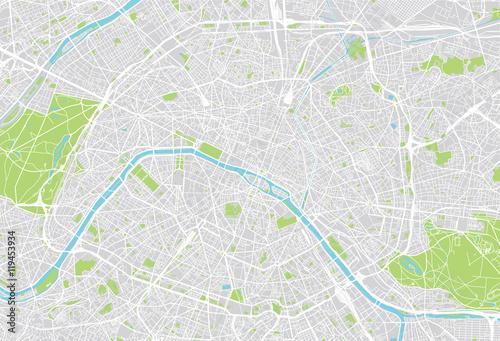 Poster Paris city map